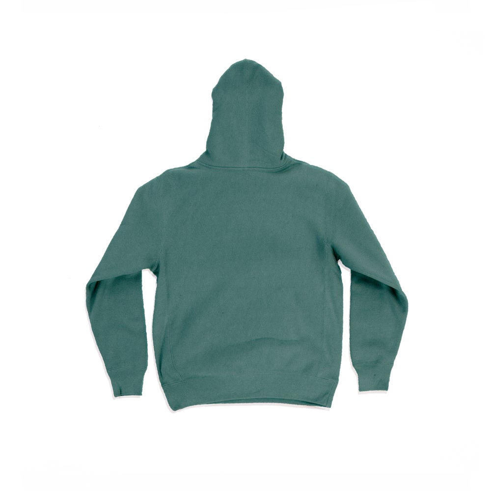 Image of The Dire Wolf - Heavyweight Hoodie - White on Forest Green