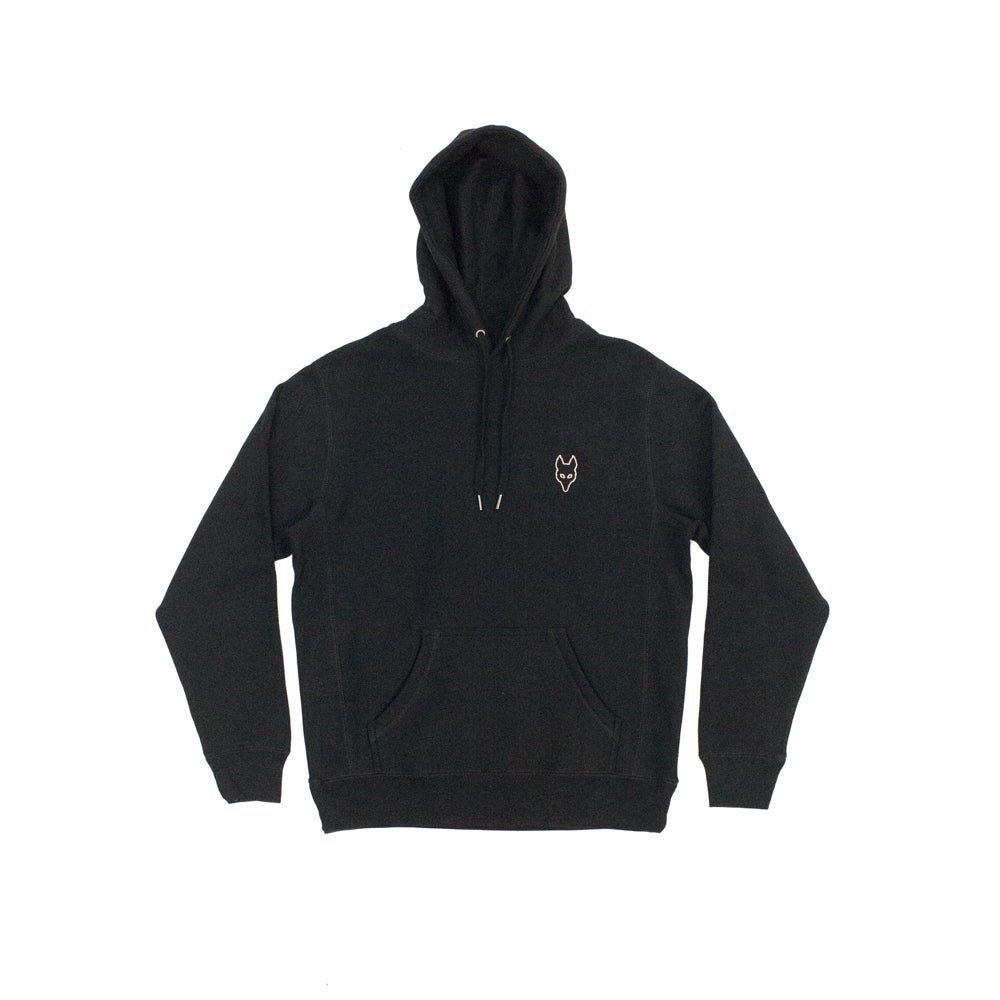Image of The Dire Wolf - Heavyweight Hoodie - Rose Gold on Black