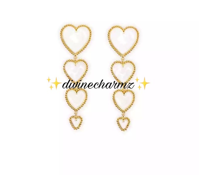 Image of Heart Drop Earrings