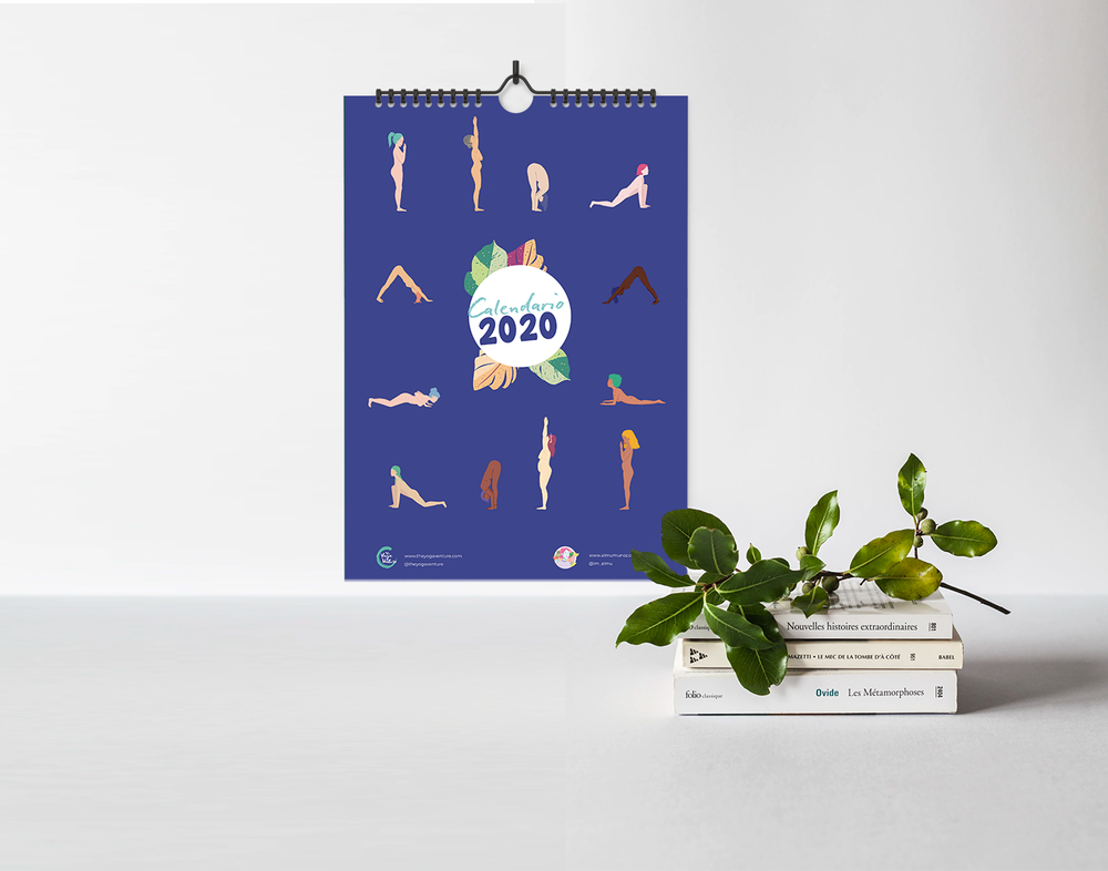 Image of 2020 yoga calendar