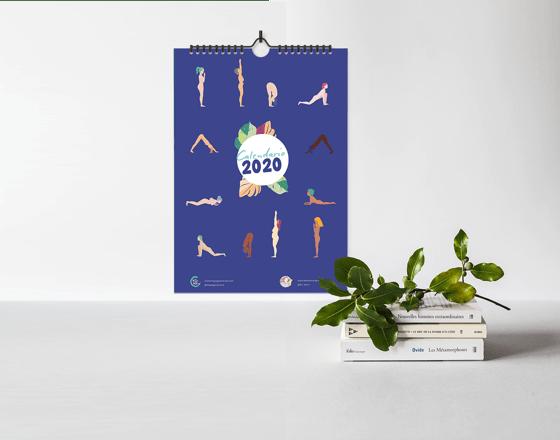 Image of 2020 yoga calendar