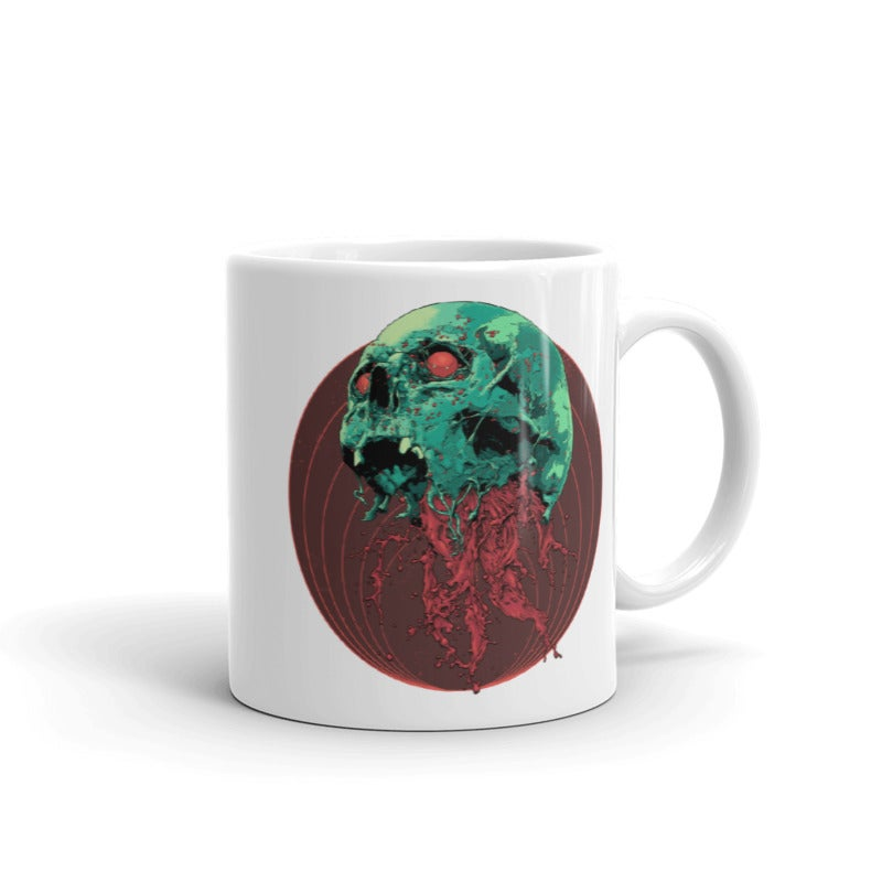 Image of Skull Full Of Blood Coffee Mug
