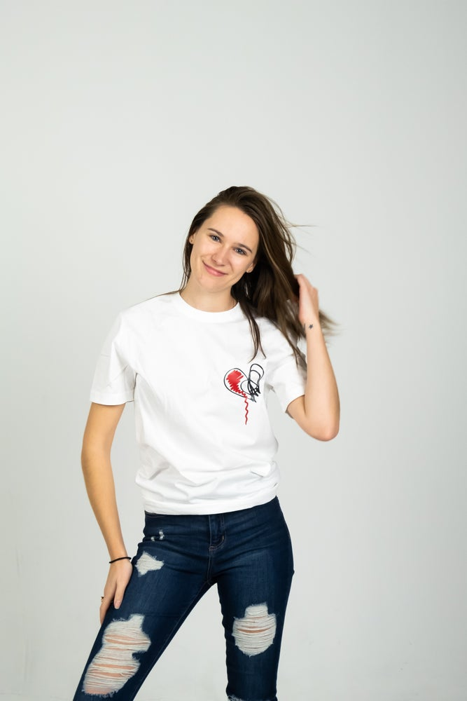 Image of Womens' LMHB T (WHITE)