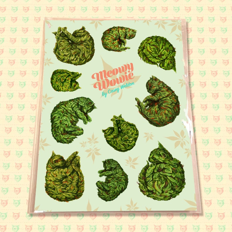 Image of Meowy Wowie Sticker Sheet & Pack