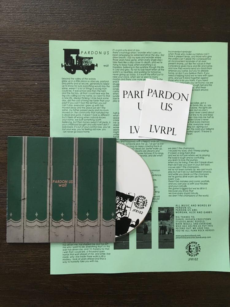 """Image of Pardon Us """"Wait"""" CD"""