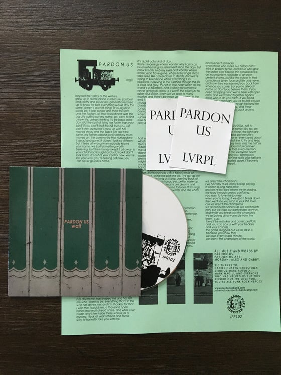 "Image of Pardon Us ""Wait"" CD"