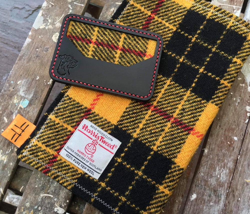 Image of Tweed Hank and Leather Wallet Collab X Terrier Leather