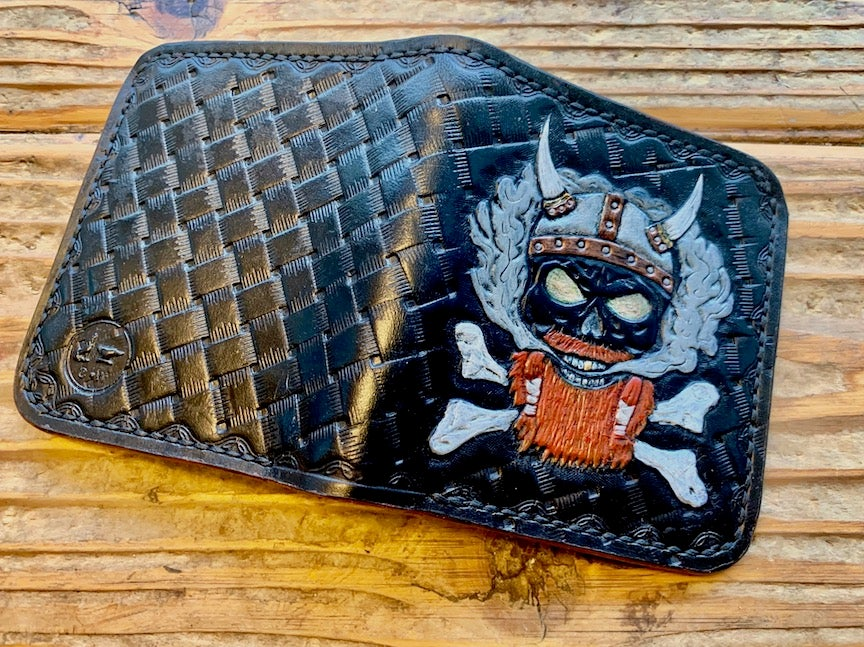 "Image of Custom Viking Bi-Fold Wallet -""Red Beard"""