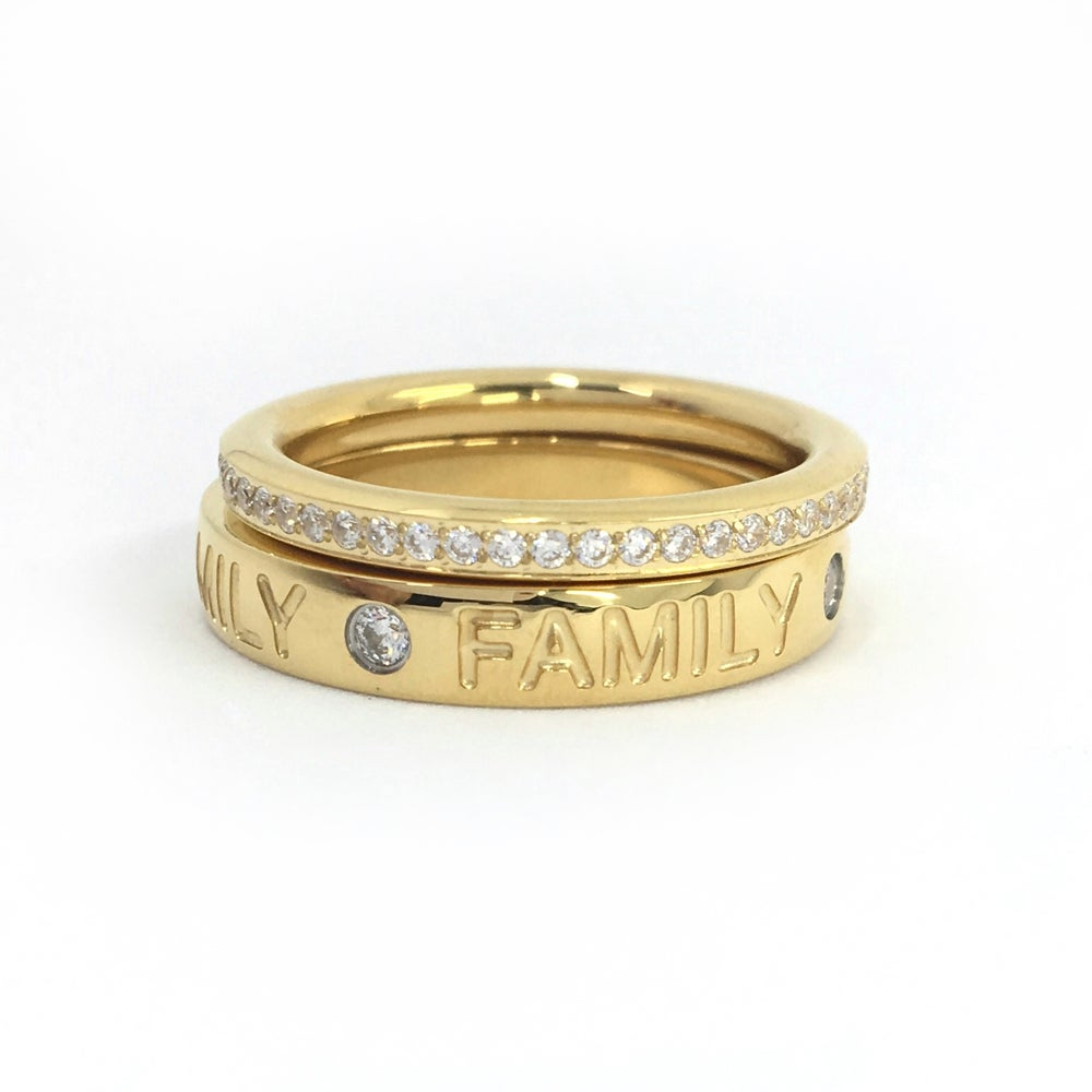 Image of Steckring Set FAMILY gold