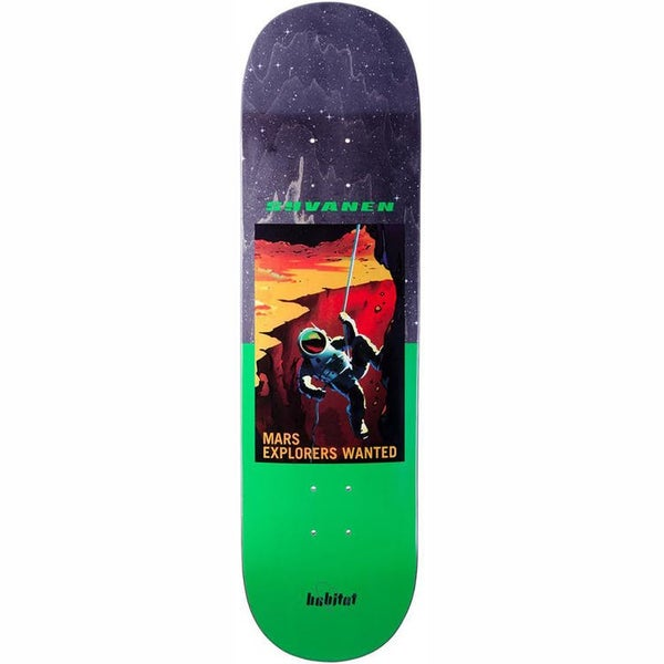 "Image of Habitat NASA Skateboard Deck - Marius - 8.375"""