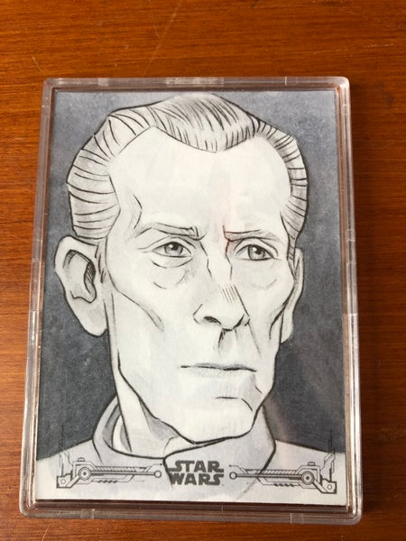 Image of Wilhuff Tarkin (Official topps sketch card)