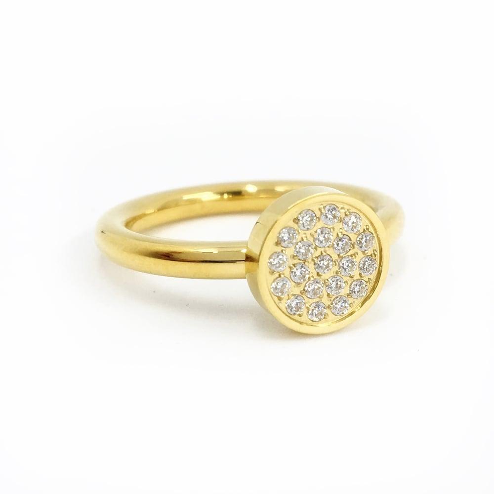 Image of Steckring LOOP Zirkonia gold