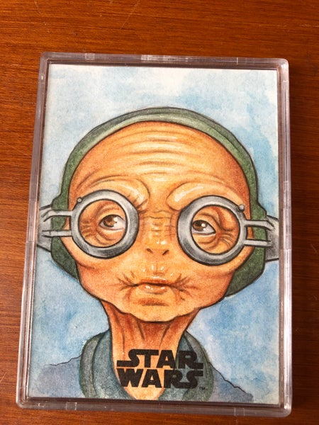 Image of Maz kanata (official topps sketch card)