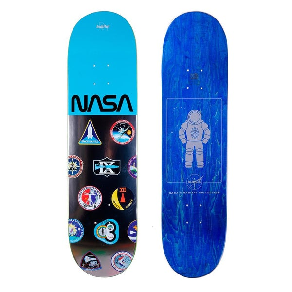 Image of Habitat NASA Skateboard Deck - Logo Array Blue - 8.25""