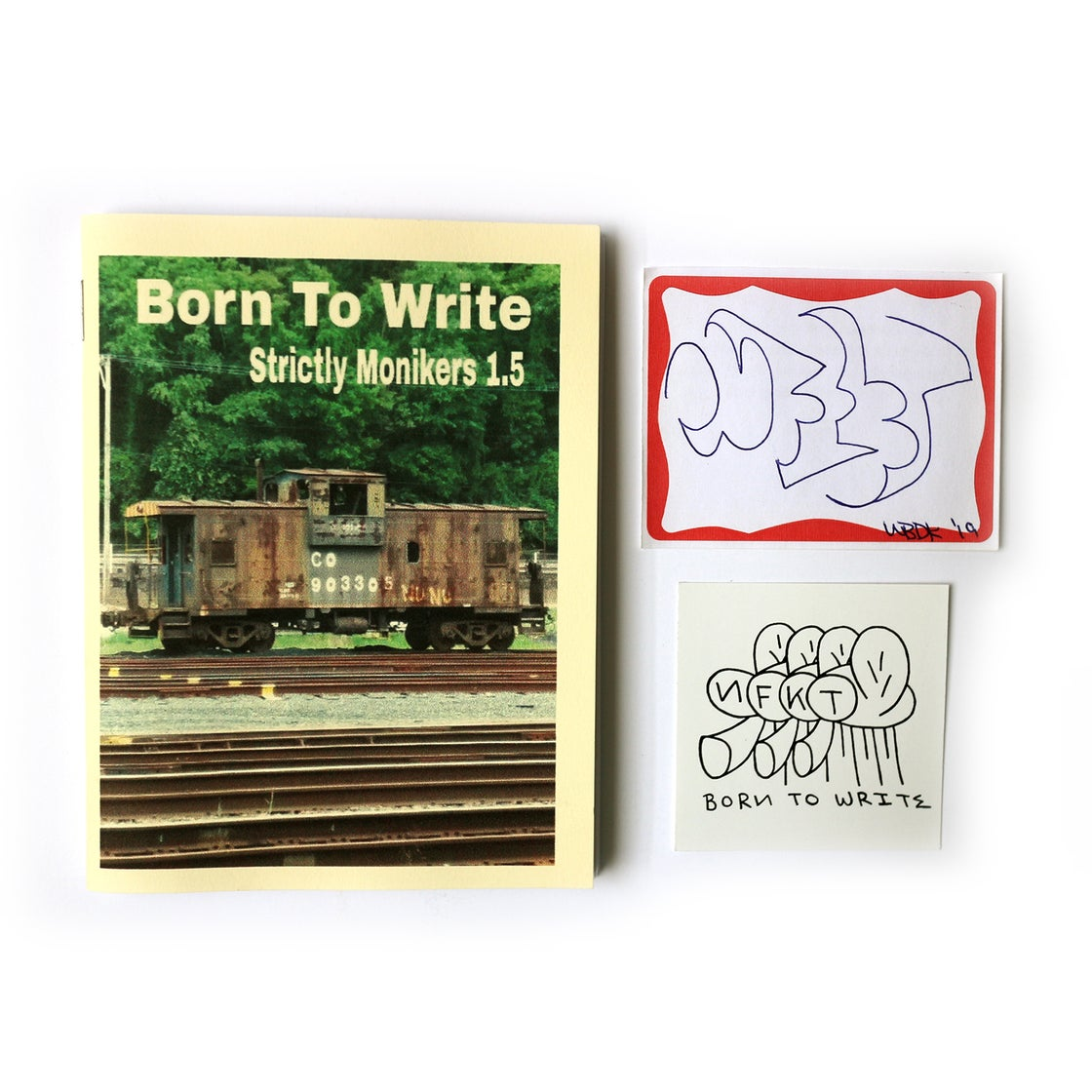 Image of BORN TO WRITE, STRICTLY MONIKERS 1.5 - NFKT