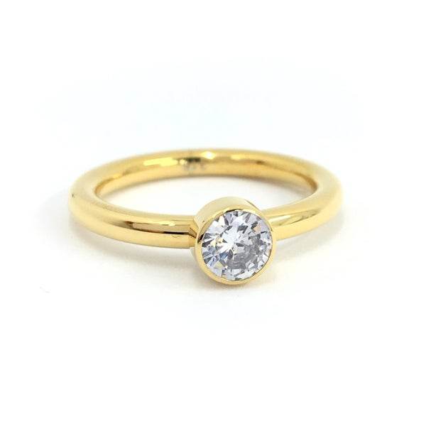 Image of Steckring Solitär Glam gold