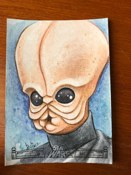 Image of Cantina band member (official topps sketch card )