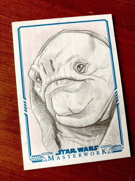 Image of Quiggold (official topps sketch card)