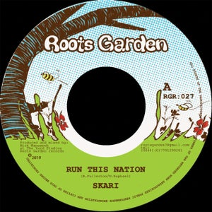 "Image of  Run This Nation - Skari & Manasseh - Roots Garden records - 7"" vinyl (PRE-ORDER ships 18/12/2019)"