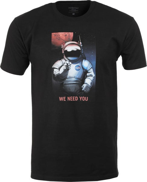 Image of Habitat NASA We Need You T-Shirt - Black