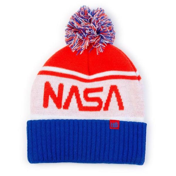 Image of HABITAT NASA LOGO POM BEANIE HAT