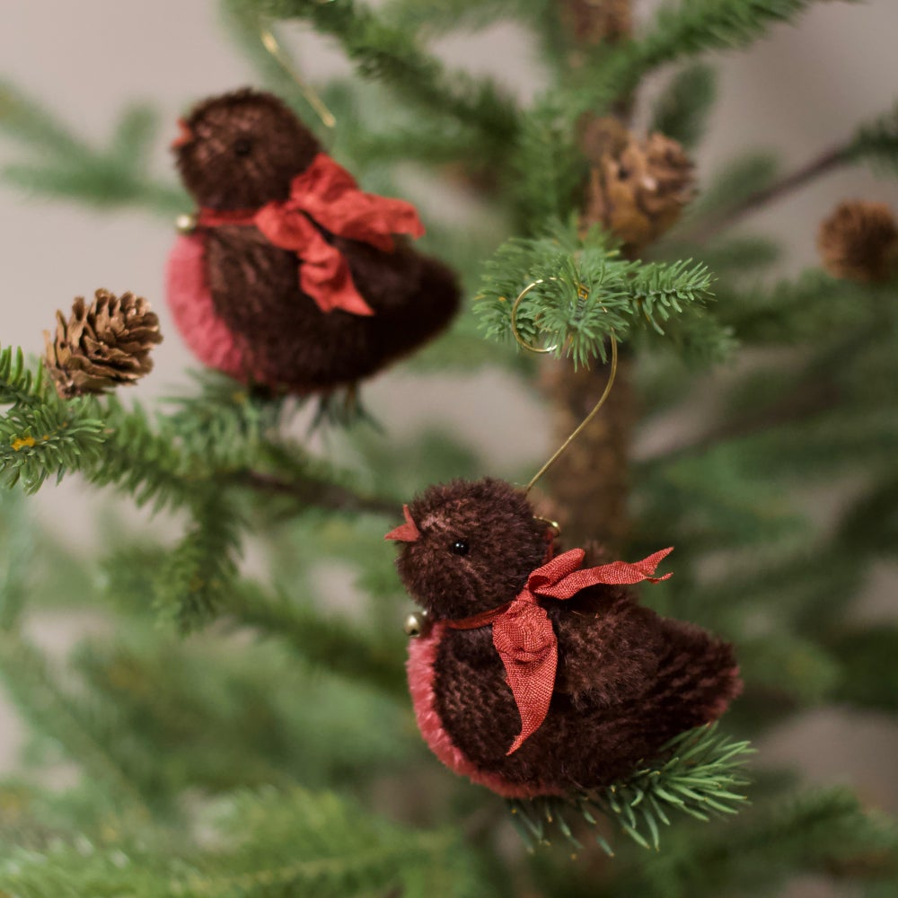 Image of Christmas Robin KIT ~ A tree ornament ~ mohair