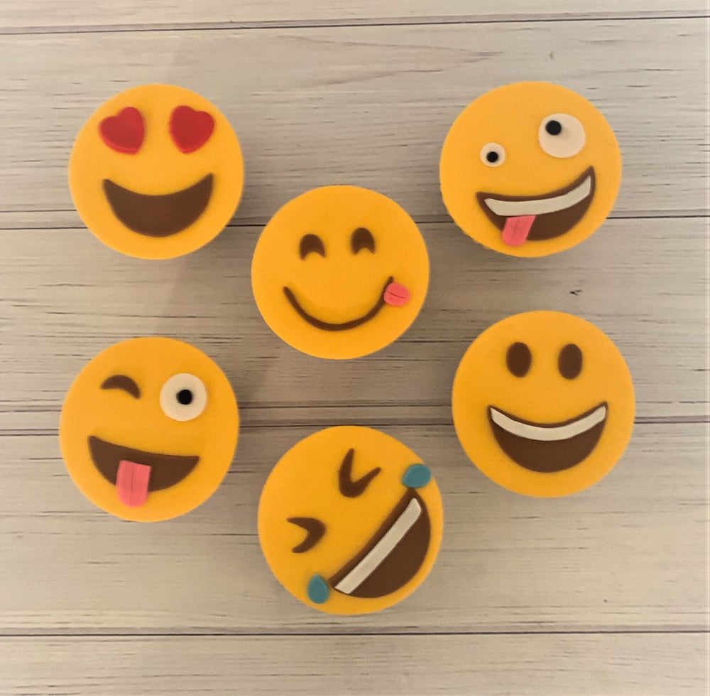 Image of Emoji Cupcakes - pack of six