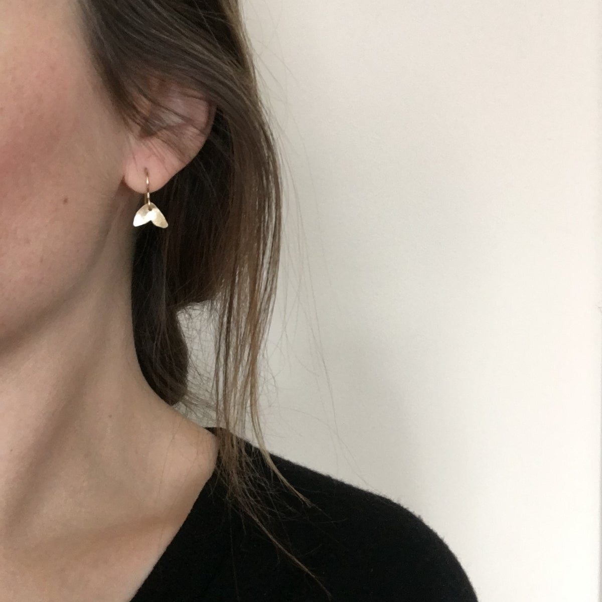 Image of bud earring brass