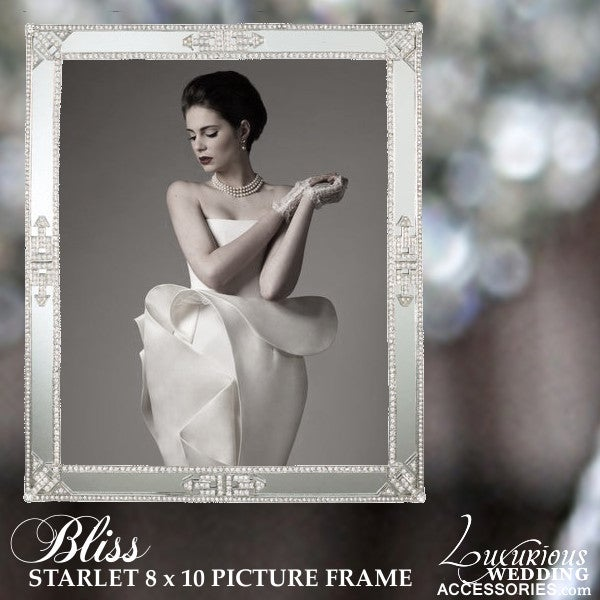 Image of Bliss Starlet Swarovski Crystal 8x10 Picture Frame