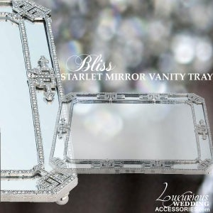 Image of Bliss Starlet Swarovski Crystal Mirrored Vanity Tray