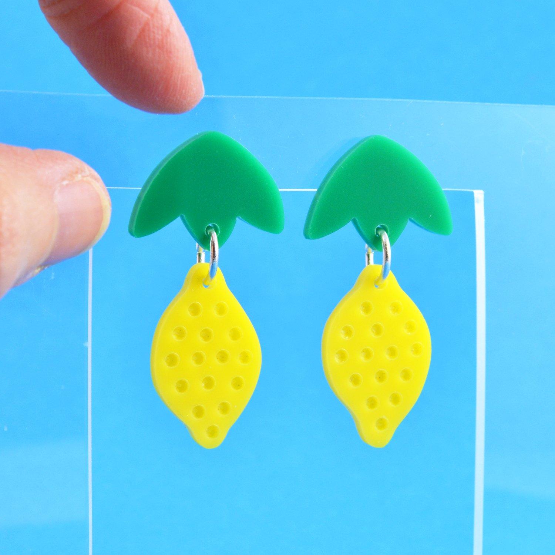 Image of Dangly Lemon Earrings