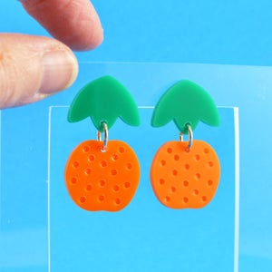 Image of Dangly Orange Earrings