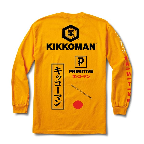 Image of PRIMITIVE x KIKKOMAN SOY SEASON L/S T-SHIRT - YELLOW