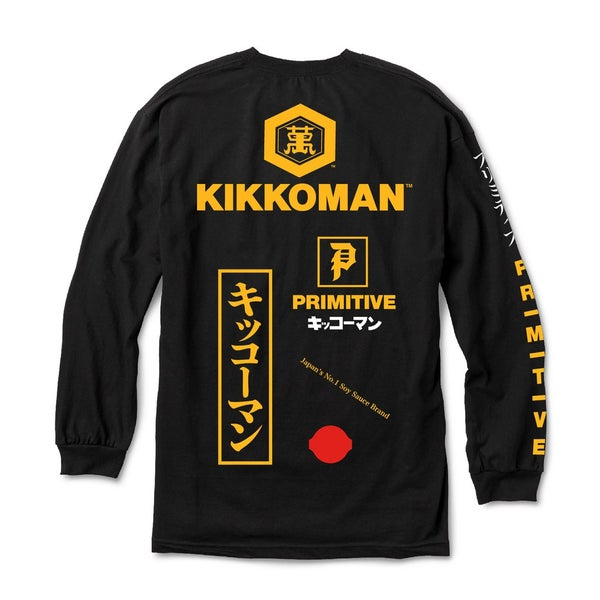 Image of PRIMITIVE x KIKKOMAN SOY SEASON L/S T-SHIRT - BLACK