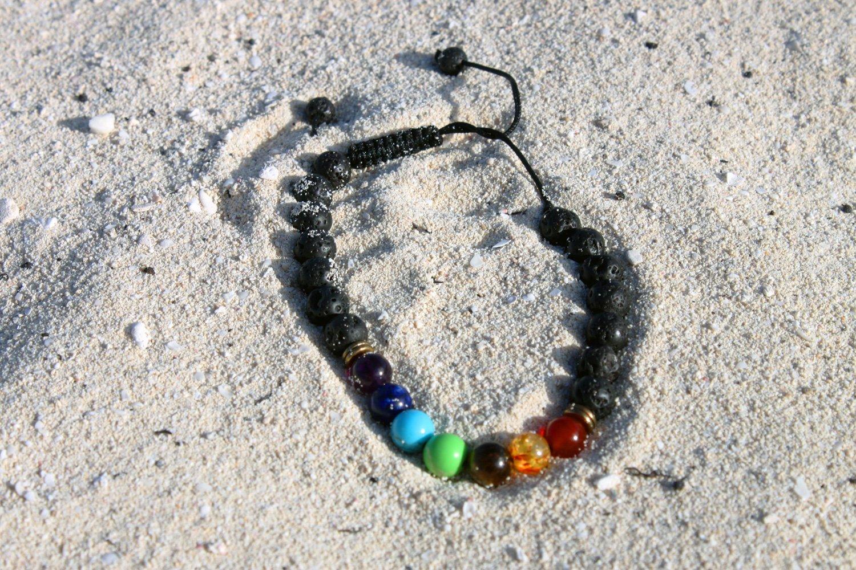 Image of rainbow chakra bracelet
