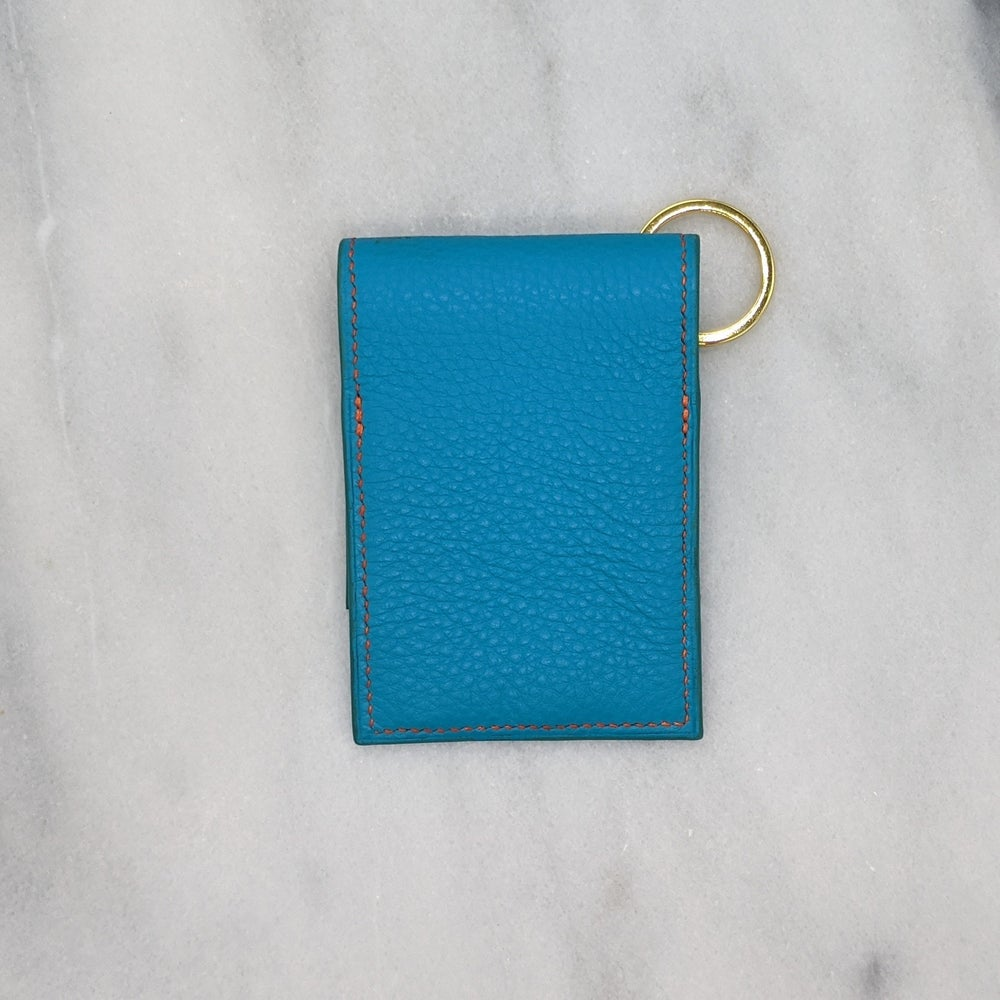 Image of ENTRY CARD Holder Key Ring – Turquoise