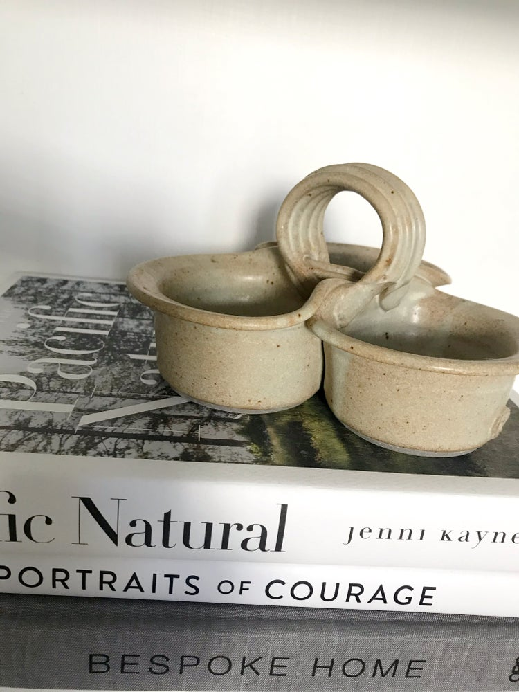 Image of Pottery 3 Bowl Condiment Serving Dish