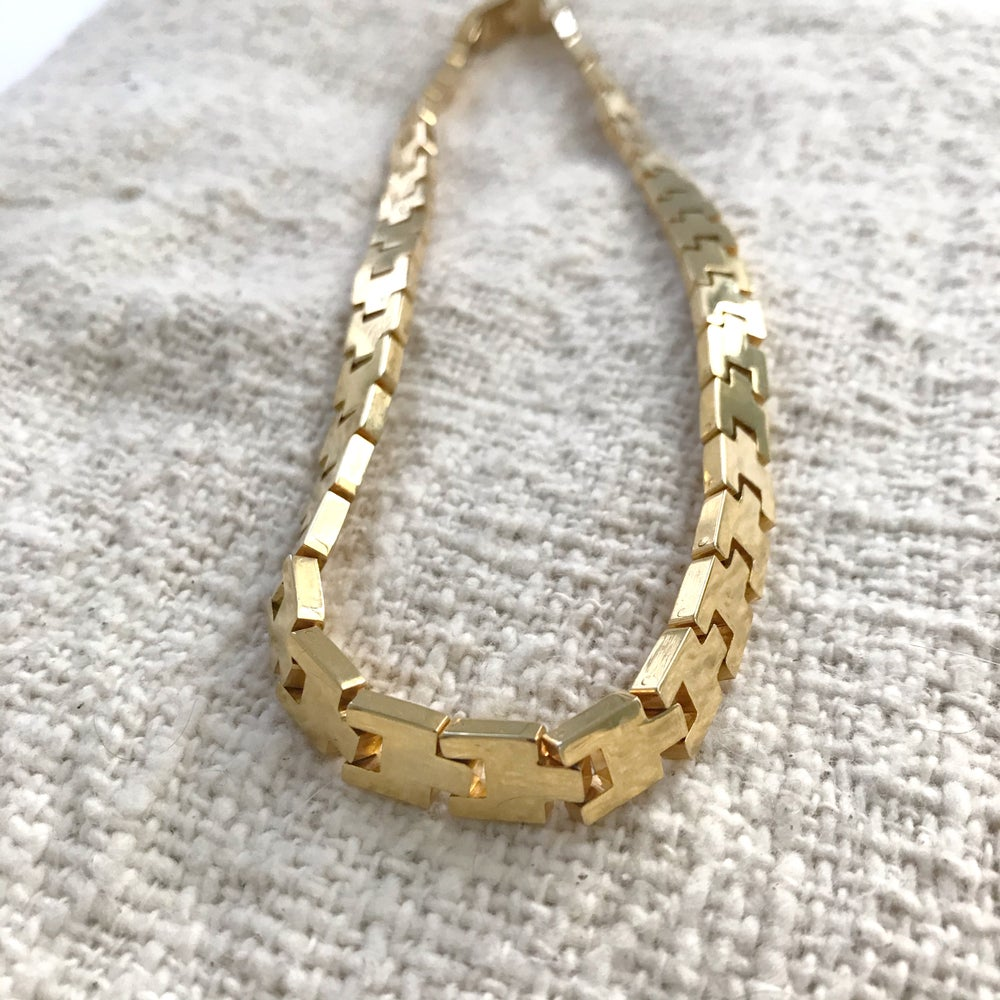 Image of Heavy Gold Linked Necklace