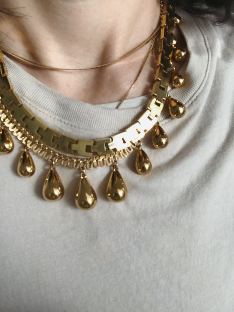 Image of Gold Necklace with Teardrops