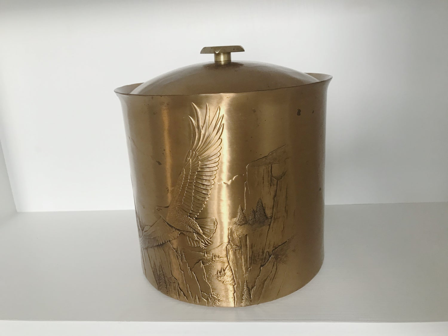 Image of Rare Solid Bronze Ice Bucket