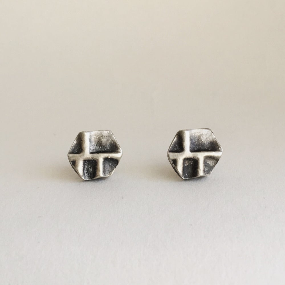 Image of Silver Hive Studs
