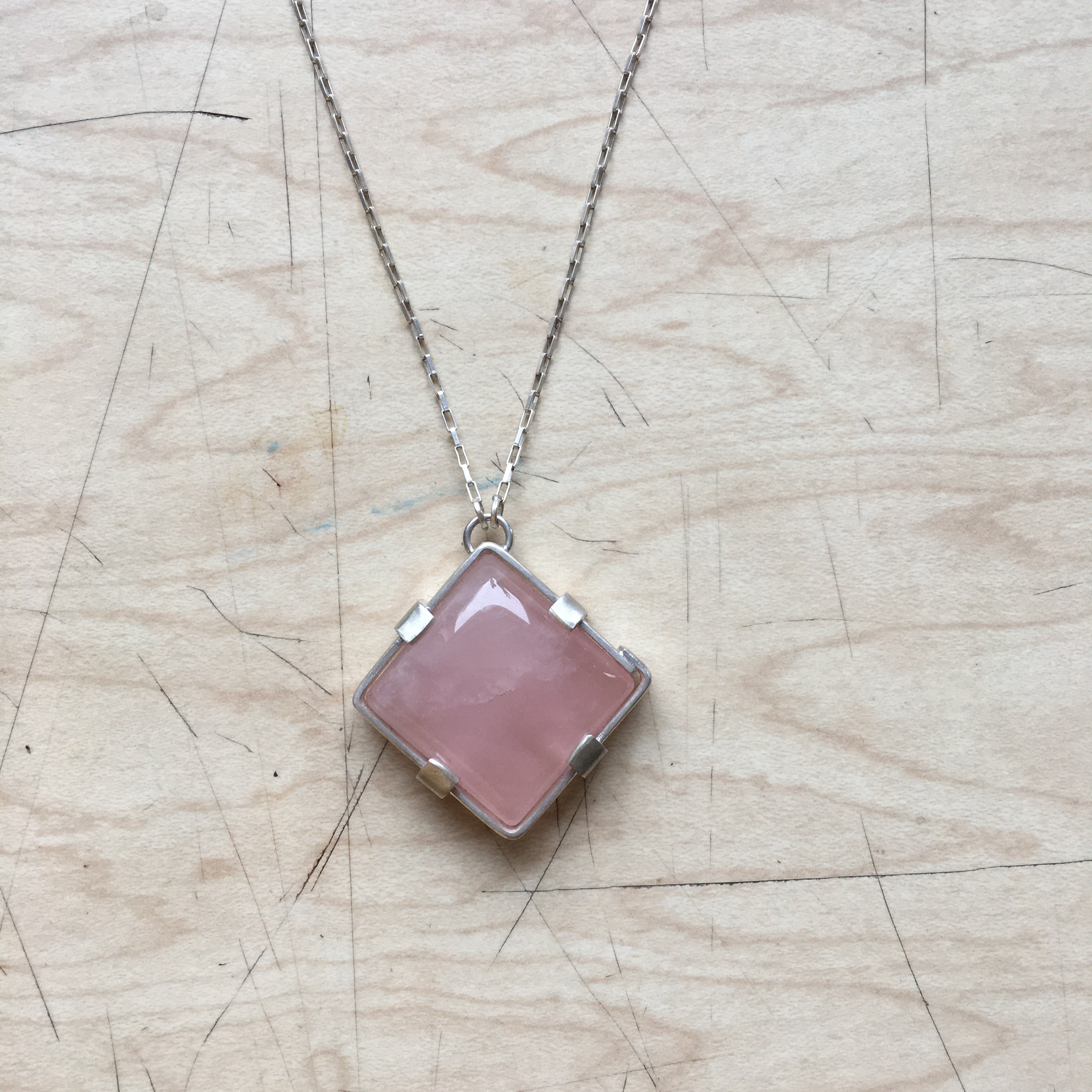 'Botna' Rose Quartz Pendant