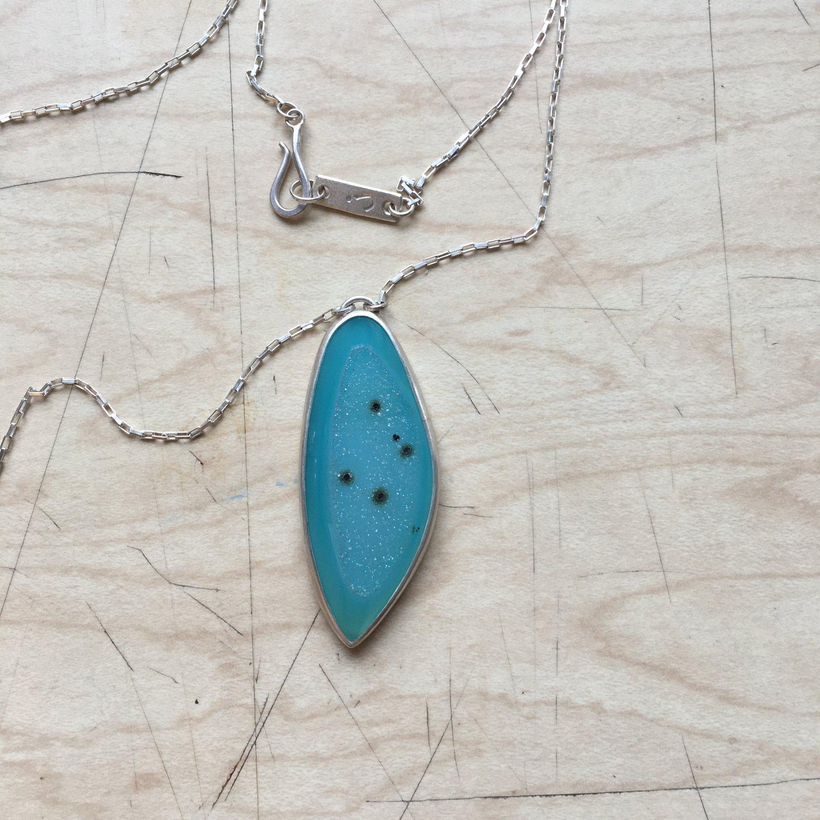 'Botna' Sterling Silver Necklace With A Brazilian Druzy