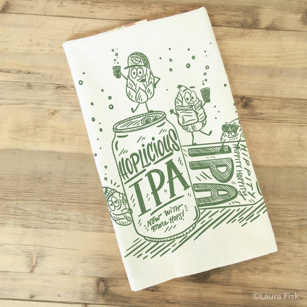 Image of IPA Beer Funny Food Tea Towel