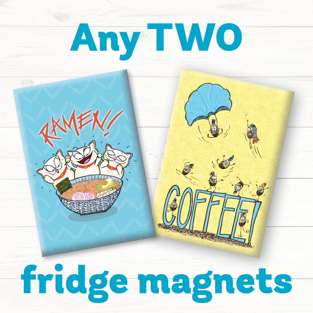 Image of Funny Food Magnets - Set of Two!
