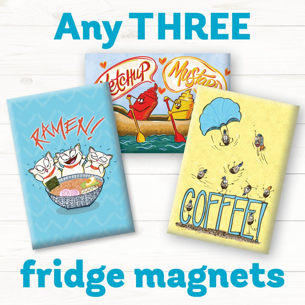 Image of Funny Food Magnets - Any Three!