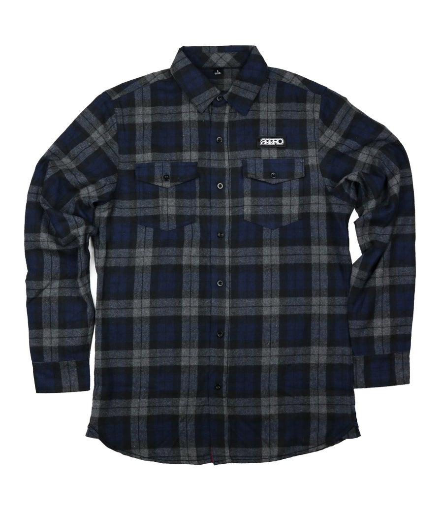 "Image of AGGRO Brand ""Subliminal II"" Plaid Flannel Shirt"