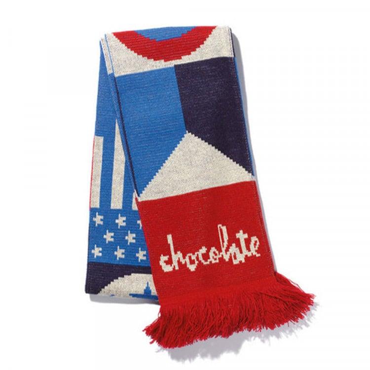 Image of CHOCOLATE 20 YEARS FLAG SCARF