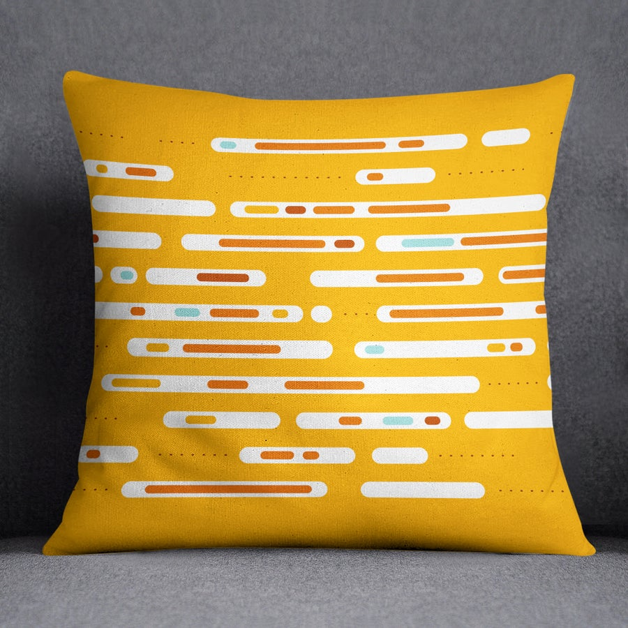 Image of Mid-Century Daybreak Square Throw Pillow