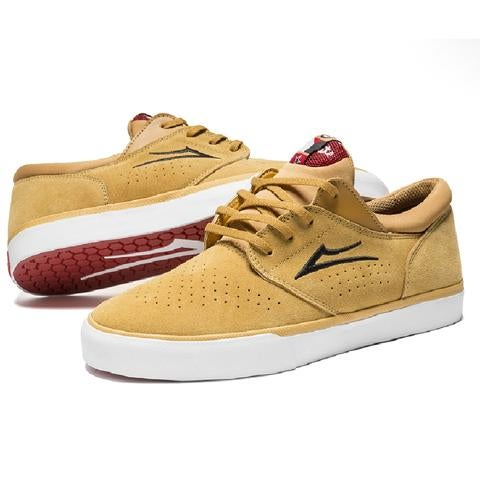Image of LAKAI x CHOCOLATE FREEMONT VULC GOLD SUEDE SHOES